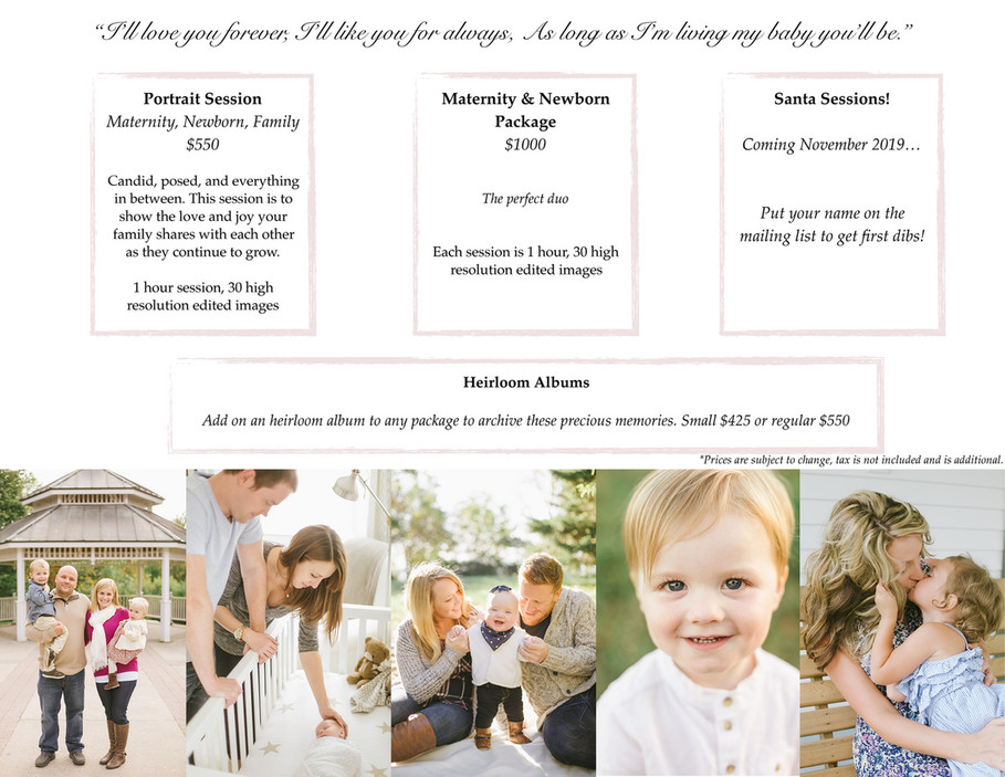 Oak & Myrrh Photography - O&M Family Sessions Packages - Page 3