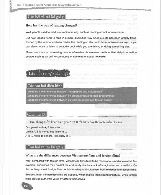 IELTS Speaking - Recent Actual Tests & Suggested Answers - Page 170