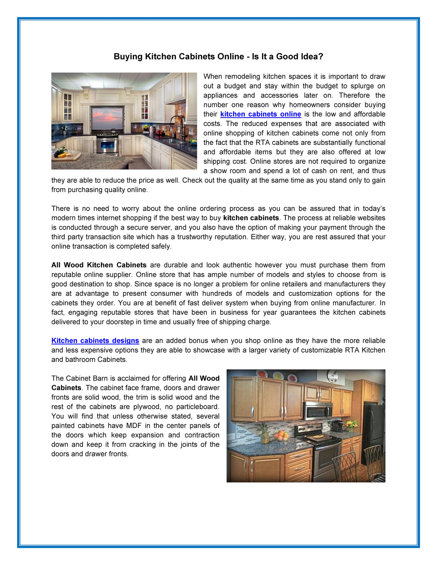 The Cabinet Barn Buying Kitchen Cabinets Online Is It A