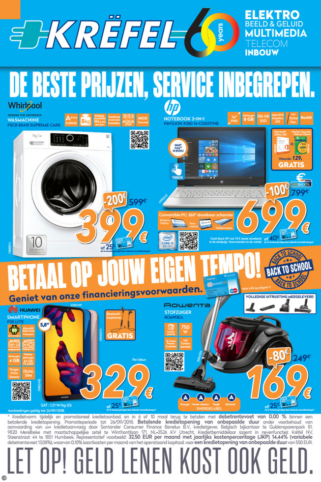 Krëfel folder van 15/09/2018 tot 26/09/2018 - Weekpromoties 38