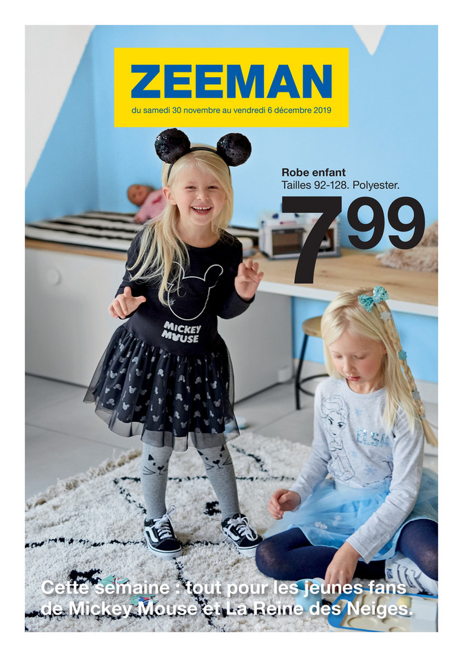 Folder Zeeman du 30/11/2019 au 06/12/2019 - Promotions de la semaine 49