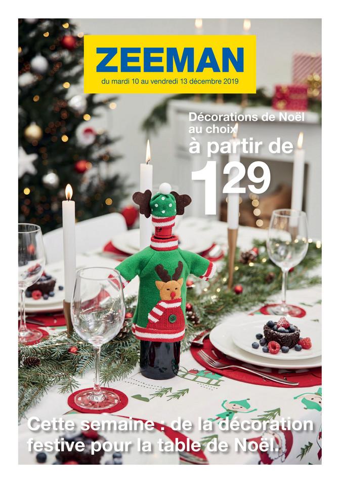 Folder Zeeman du 10/12/2019 au 13/12/2019 - Noël