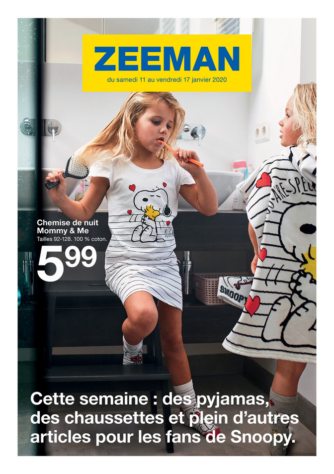 Folder Zeeman du 11/01/2020 au 17/01/2020 - Promotions de la semaine 3