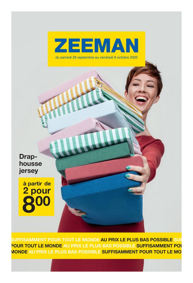 Folder Zeeman du 26/09/2020 au 09/10/2020 - Promotions de la semaine 40
