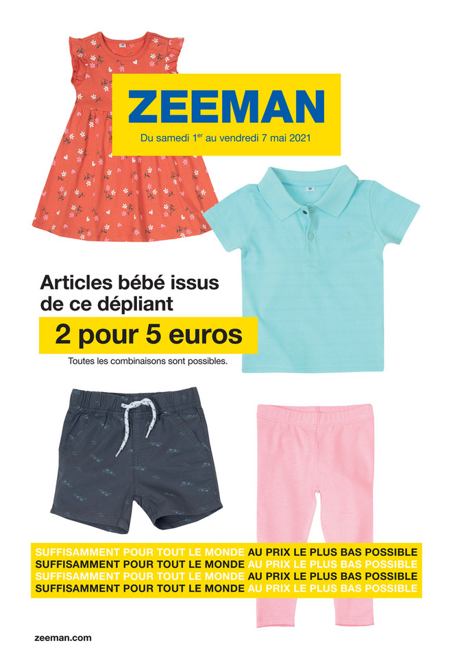 Folder Zeeman du 01/05/2021 au 07/05/2021 - Promotions de la semaine 18