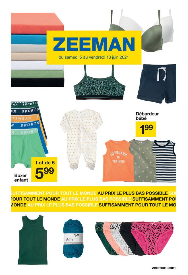 Folder Zeeman du 05/06/2021 au 18/06/2021 - Promotions de la semaine 23-24
