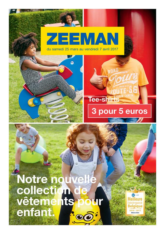 Folder Zeeman du 23/03/2017 au 07/04/2017 - Dépliant  13-14