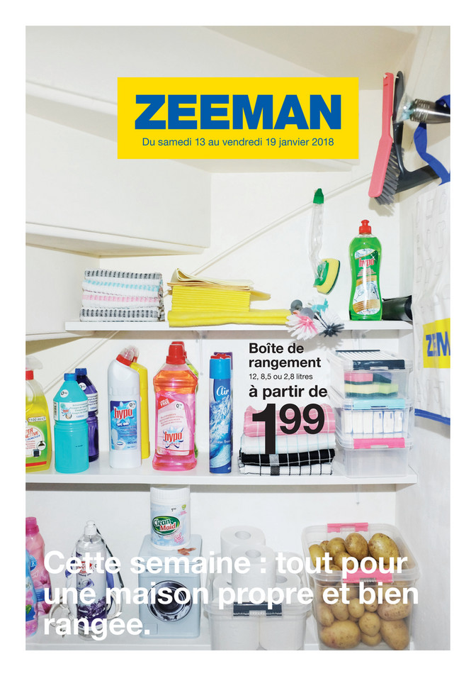 Folder Zeeman du 13/01/2018 au 19/01/2018 - Soldes semaine 3 2018