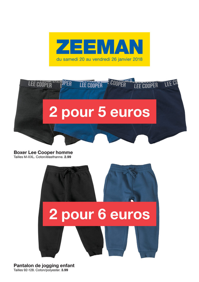 Folder Zeeman du 18/01/2018 au 26/01/2018 - Thermo promo Janvier semaine 4