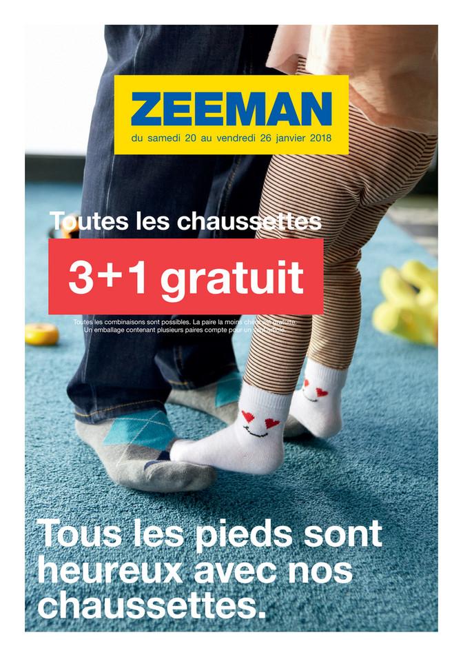Folder Zeeman du 18/01/2018 au 26/01/2018 - Chaussettes promo Janvier semaine 4