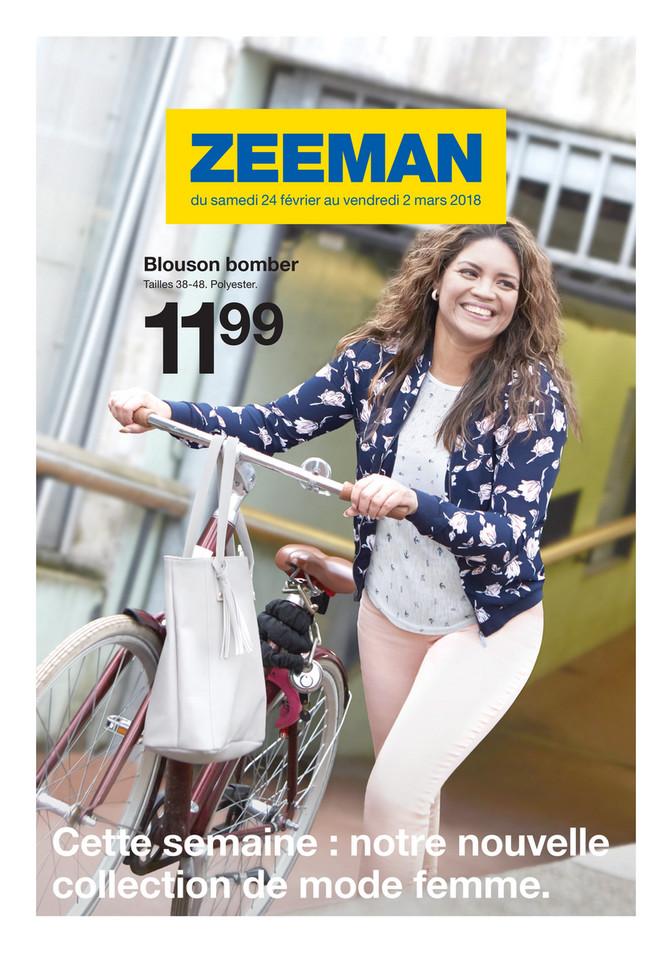 Folder Zeeman du 22/02/2018 au 02/03/2018 - Promo semaine 9