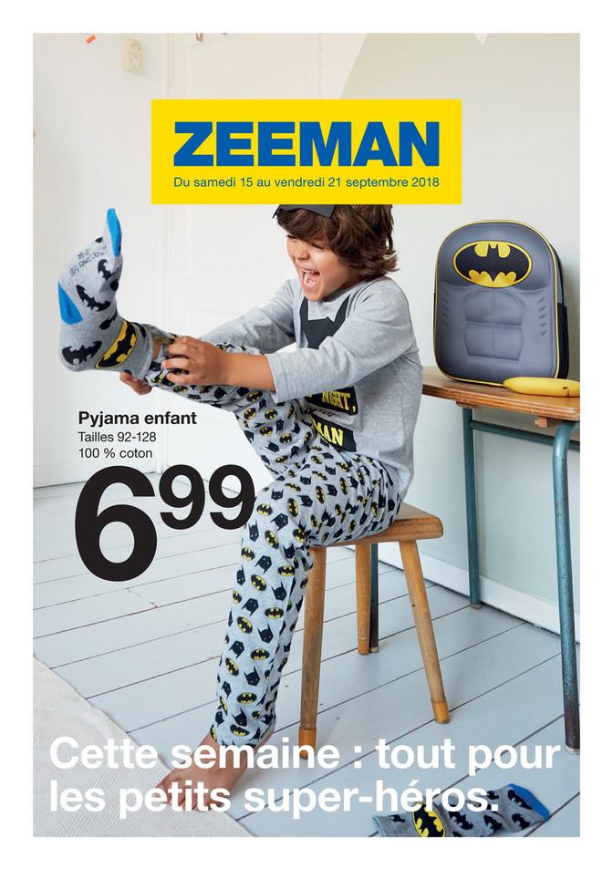 Folder Zeeman du 15/09/2018 au 21/09/2018 - Promotions de la semaine 38