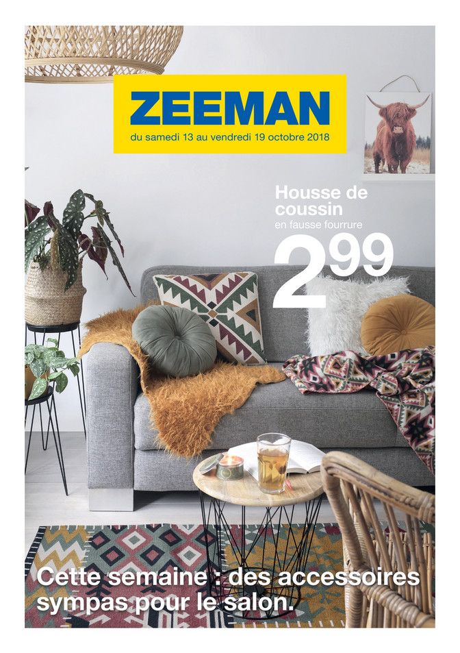 Folder Zeeman du 13/10/2018 au 19/10/2018 - Promotions de la semaine 42