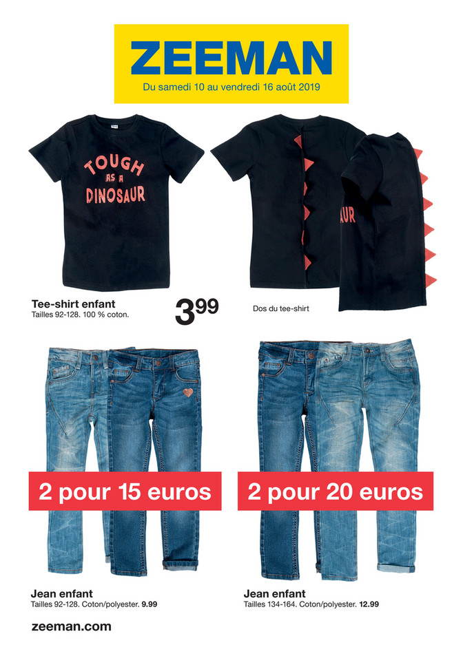 Folder Zeeman du 10/08/2019 au 16/08/2019 - Promotions de la semaine 33