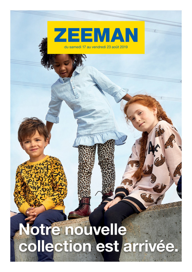 Folder Zeeman du 17/08/2019 au 23/08/2019 - Promotions de la semaine 34