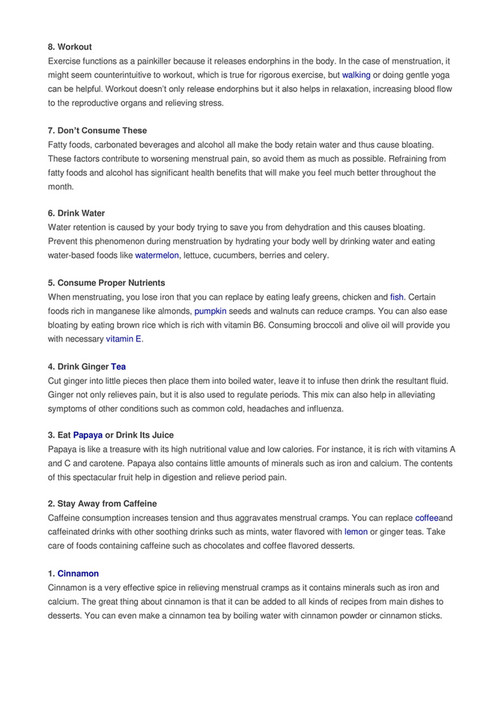 My publications - 10 Effective Natural Menstrual Cramp Relievers