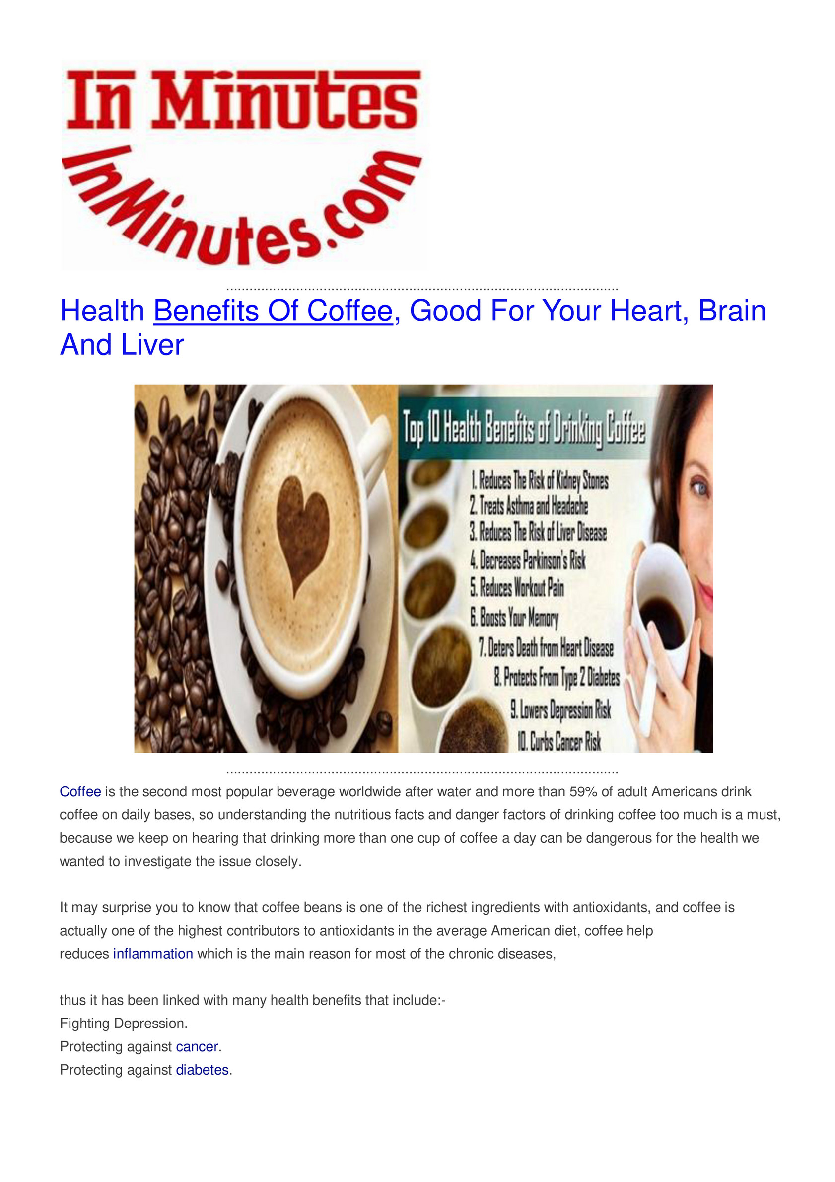 My Publications Health Benefits Of Coffee Page 1 Created With Publitas Com