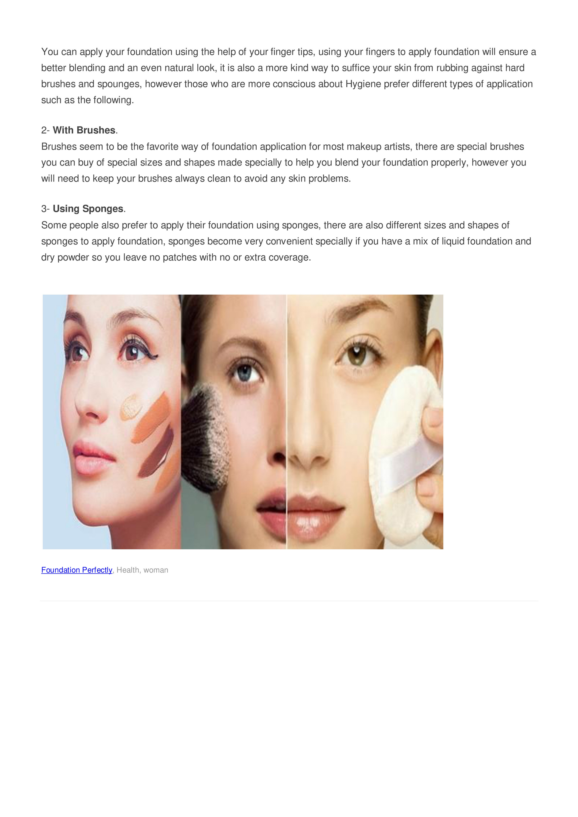 My Publications Three Ways To Apply Your Foundation Perfectly Page 1 Created With Publitas Com