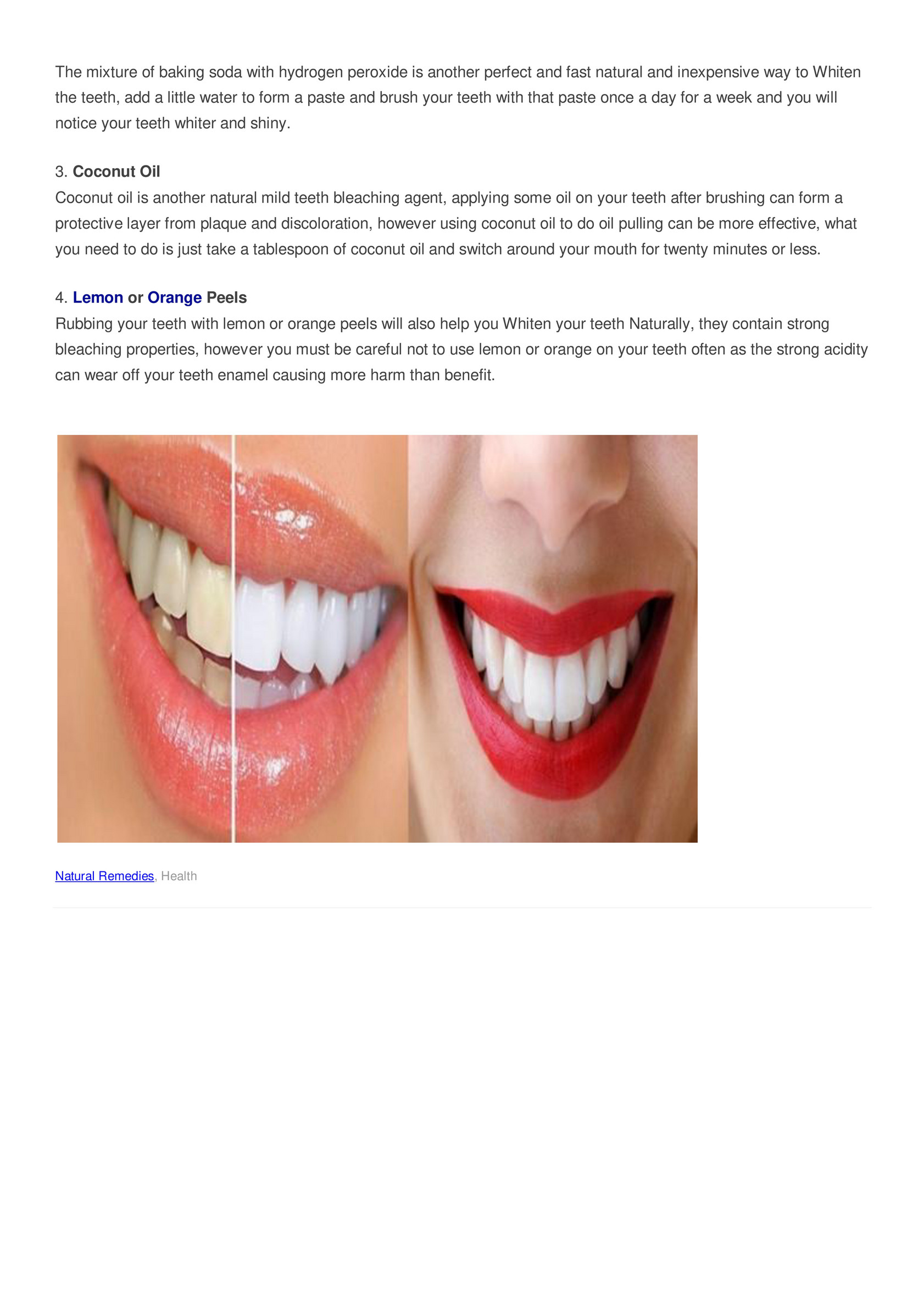 My Publications Whiten Your Teeth With These Natural Remedies