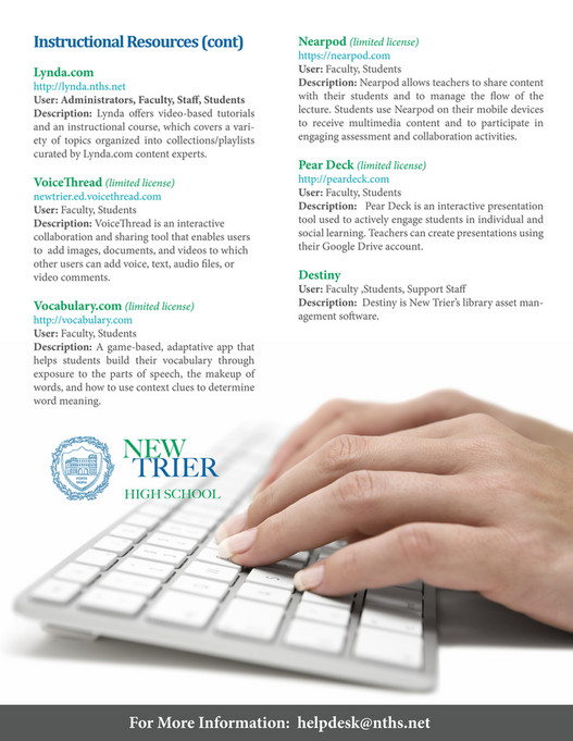 New Trier Township High School - Back to School Technology Toolkit
