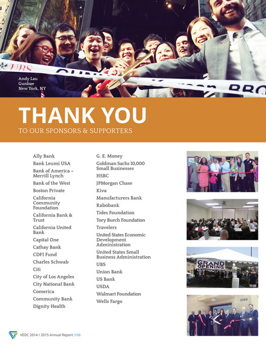 VEDC - VEDC 2015 Annual Report - Page 10-11 - Created with Publitas com