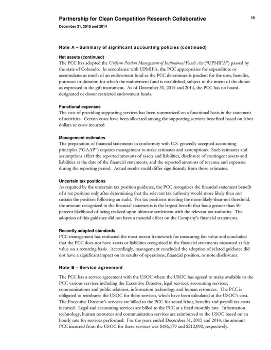 Partnership For Clean Competition Annual Report 2015 Page 22 23