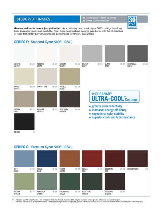 SRP Building Products Inc - Walls - Citadel Colour Guide