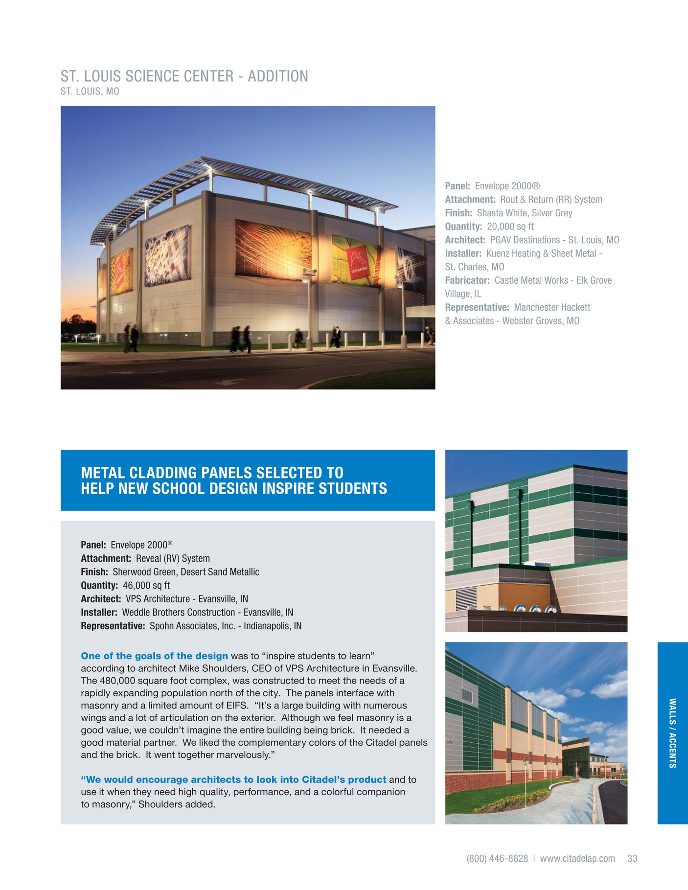 srp building products inc - walls - cladding concepts - page 32-33