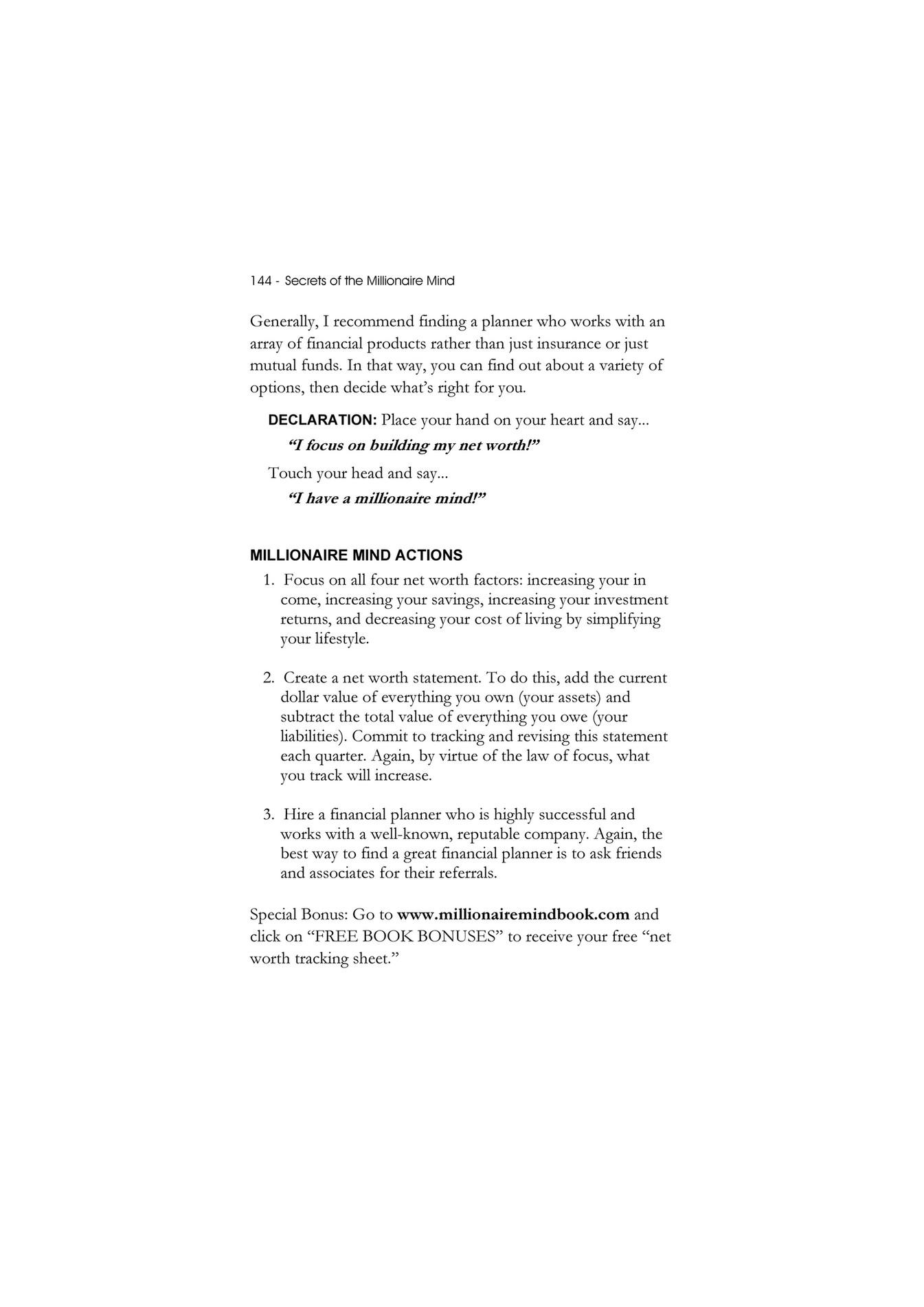My publications - Secrets of the Millionaire Mind {S-B}™ T. Harv ...