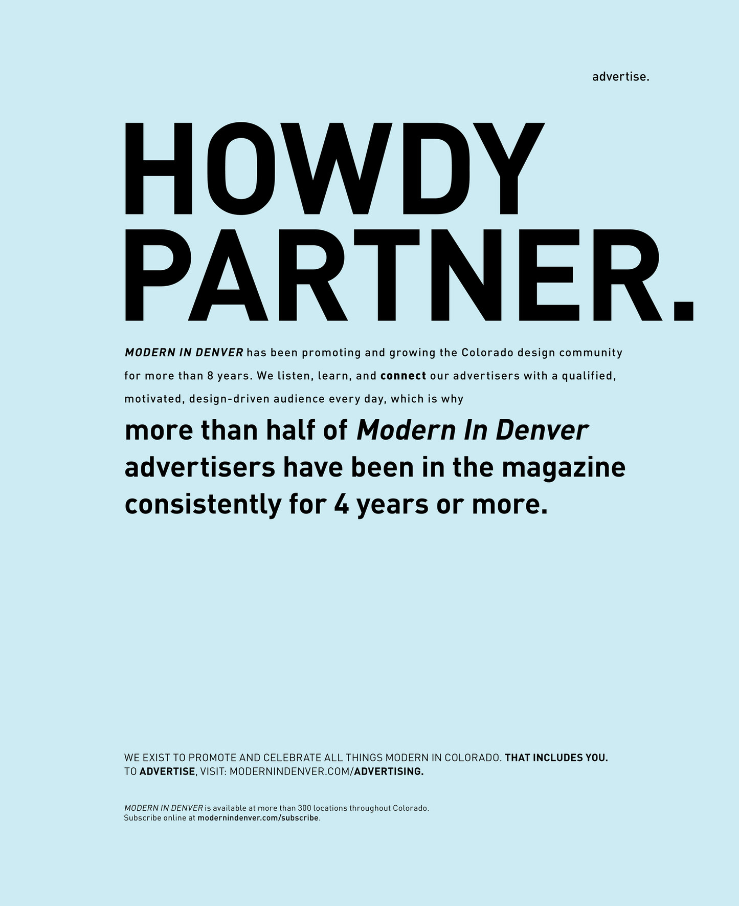 modern in denver  modern in denver  winter   page  - we exist to promote and celebrate all things modern in colorado thatincludes you to advertise visit modernindenvercomadvertising