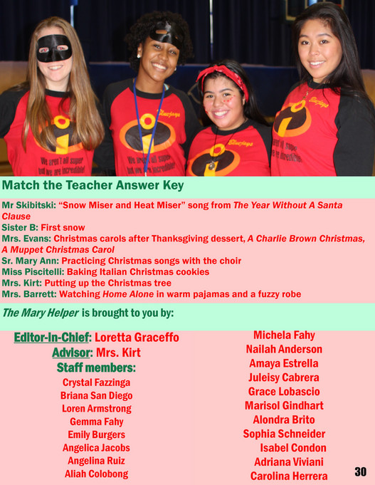 MHC Academy - The Mary Helper | December 2016 - Page 30-31