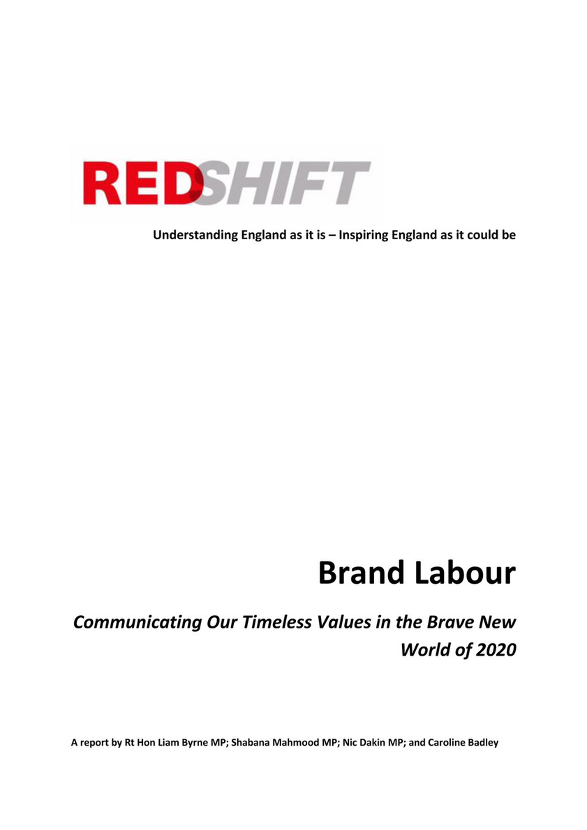 Office of Liam Byrne MP - Red Shift - Brand Labour --- Communicating