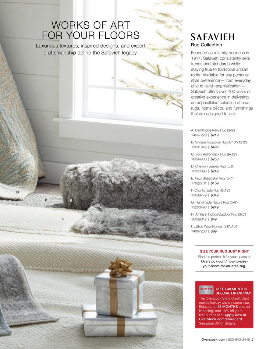 Overstock Holiday 2016 Catalog Safavieh Handmade