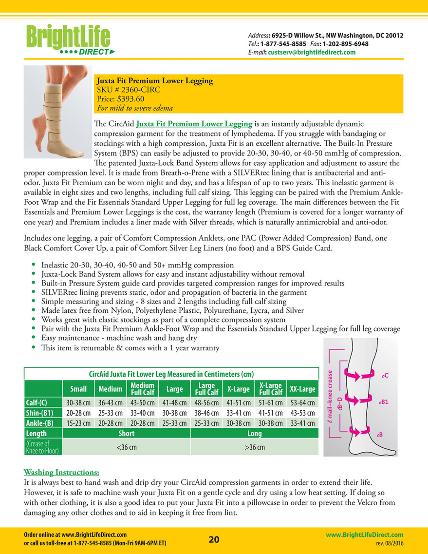 Compression Wraps Catalog - BrightLife Direct - Page 20-21