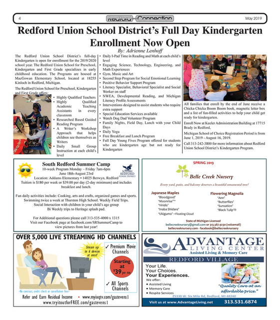 Redford Connection Newspaper May 2019 - Page 2-3 - Created with