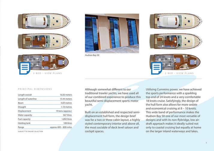 Explorer Motor Yachts HK Ltd  - Hudson Bay 50 Brochure