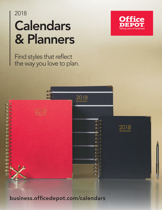 2018 Calendars Planners Page 1