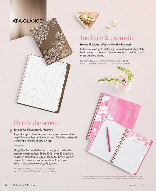 Calendars Planners 2019 Page 16 17