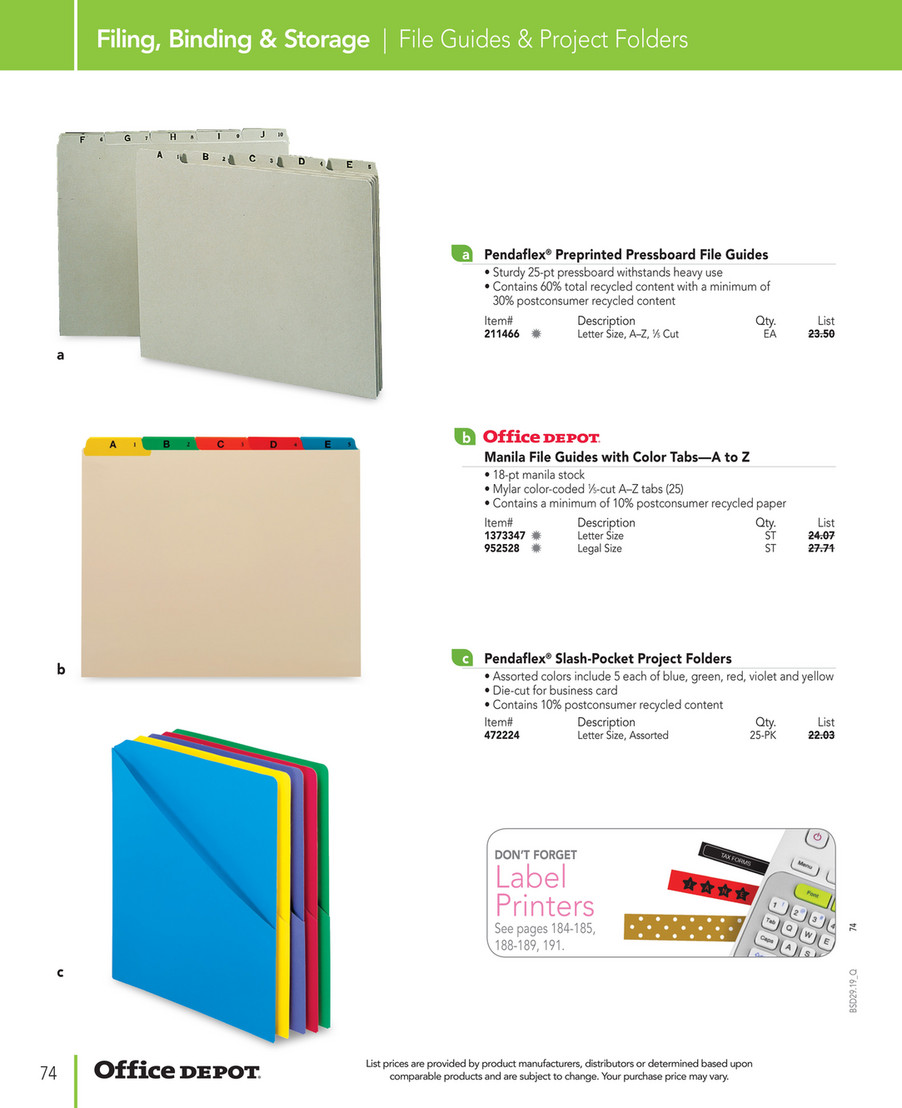 Office Depot Business Solutions 2019 Page 74 75