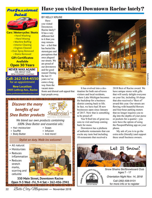Belle City Magazine - 2018 11 - Page 24-25 - Created with