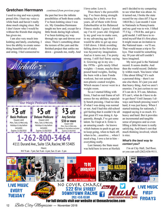 Belle City Magazine - 2018 11 - Page 14-15 - Created with