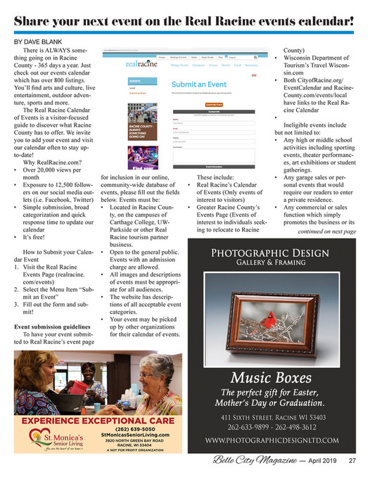 Belle City Magazine - 2019 04 (April) - Page 28-29 - Created with