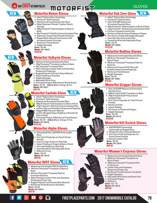 2017 Snowmobile Catalog by FirstPlaceParts com - Page 76-77