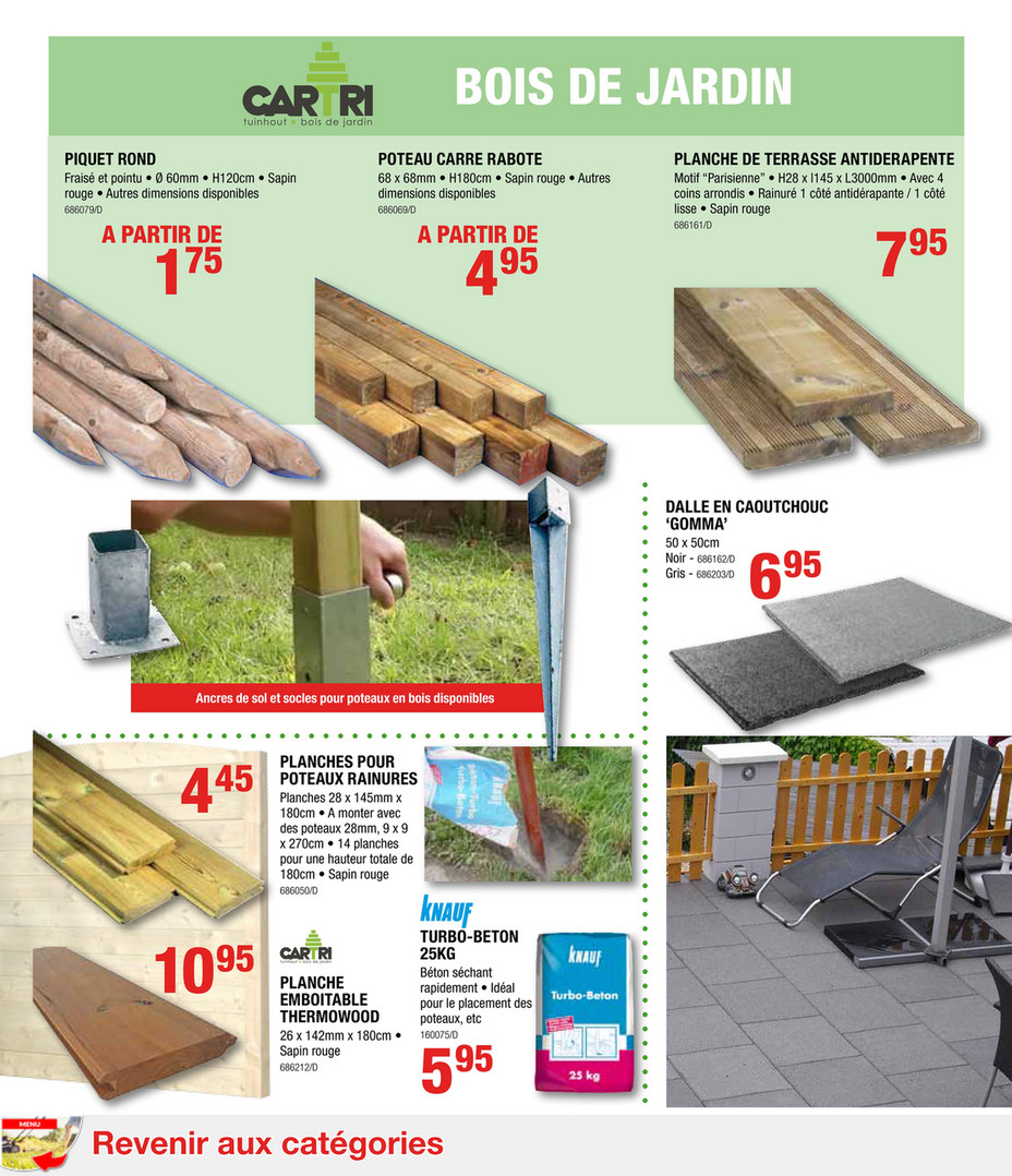 Poteau Bois Pour Terrasse handyhome-catalogue-jardin-2017 - page 46-47 - created with