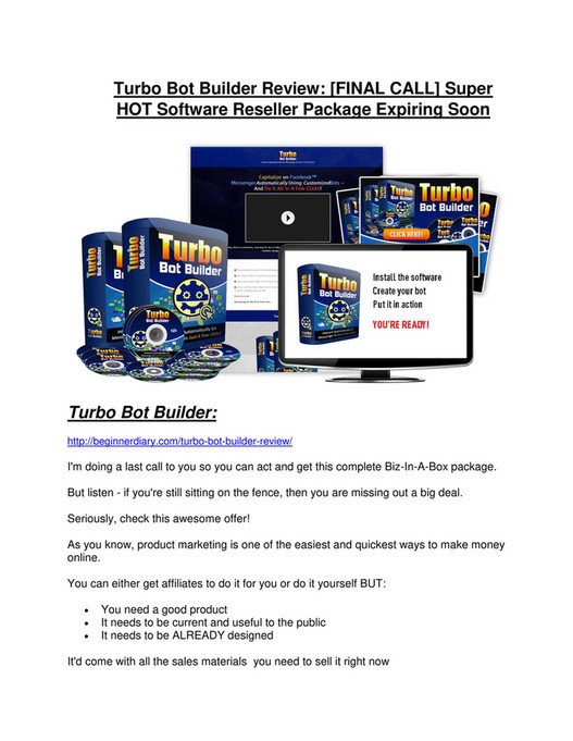 My publications - Turbo Bot Builder review pro-$15900 bonuses (free