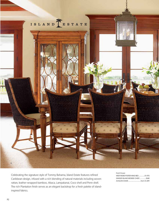A Celebrating The Signature Style Of Tommy Bahama Island Estate Features Refined Caribbean Design
