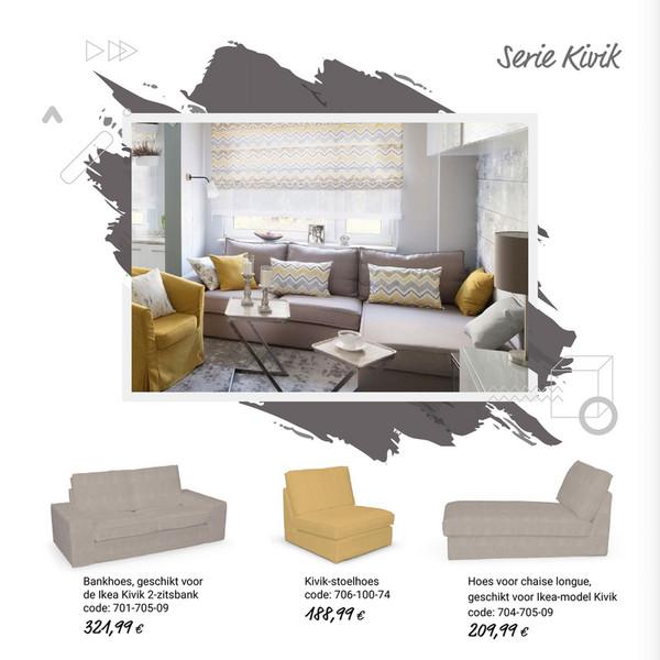 Nl Hoezen Voor Ikea Modellen Zitbankhoes Kivik 3 Zits Slaapbank