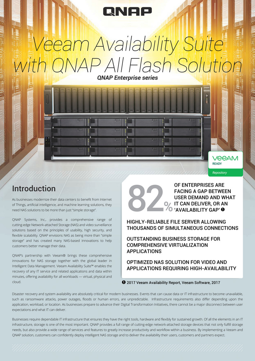 QNAP - Veeam Availability Suite with QNAP All Flash Solution