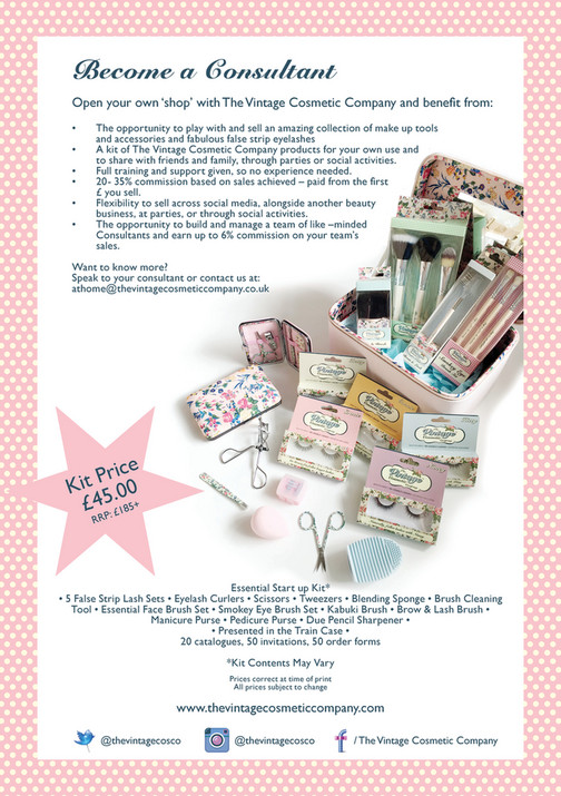 a6a57a2444e Become a Consultant Open your own 'shop' with The Vintage Cosmetic Company  and benefit
