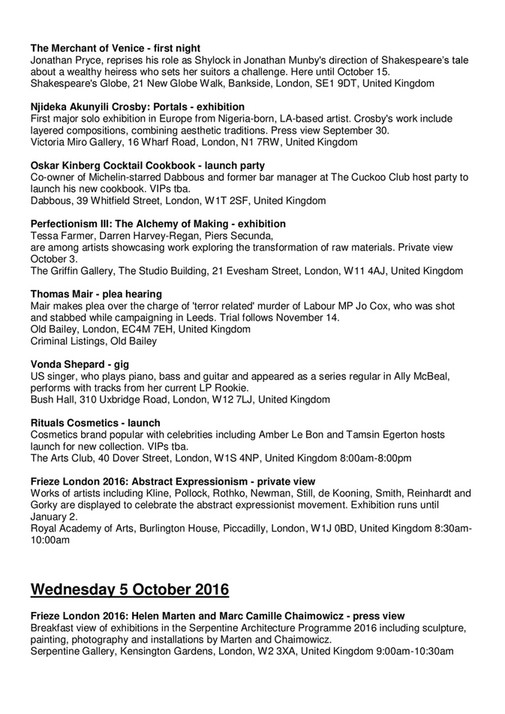 Sincura Concierge Ltd Chrome Members Newsletter October 2016